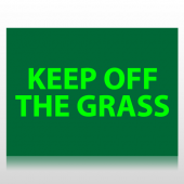 Keep Off Grass Sign Panel