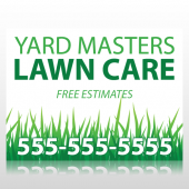 Lawn Care Sign Panel