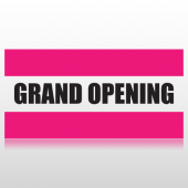 Pink Stripes Grand Opening Banner