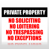 Private Property Sign Panel