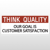 Think Quality Is Customer Satisfaction Custom Banner