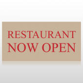 Restaurant Now Open Banner