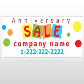 Square Circle Sale 15 Custom Sign