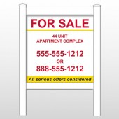 "Apartment 454 48""H x 48""W Site Sign"