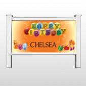 "Birthday Balloons 185 48""H x 96""W Site Sign"