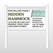 """Hidden 438 48""""H x 96""""W Site Sign"""