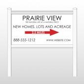 """Prairie 491 48""""H x 96""""W Site Sign"""
