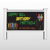 "Silhouette Party 187 48""H x 96""W Site Sign"