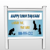 "True Happy Care 182 48""H x 96""W Site Sign"