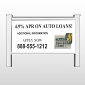 "Auto Loan 173 48""H x 96""W Site Sign"