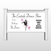 "Ballet Dance 517 48""H x 96""W Site Sign"