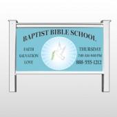"Bibledove 162 48""H x 96""W Site Sign  Stand"