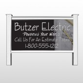 "Black And Book 217 48""H x 96""W Site Sign"
