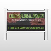 "Black And Floral 496 48""H x 96""W Site Sign"