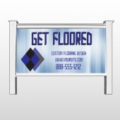 "Blue Checker 249 48""H x 96""W Site Sign"
