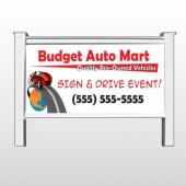 "Budget Auto Mart 116 48""H x 96""W Site Sign"