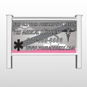 "Caduceus Med 503 - 48""H x 96""W Site Sign"