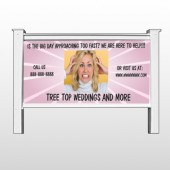 "Crazy Wedding 411 48""Hx96""W Site Sign"