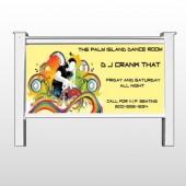 "DJ Crank Night 369 48""H x 96""W Site Sign"