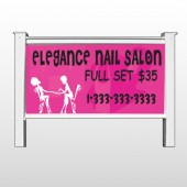 "Elegant Nails 643 48""H x 96""W Site Sign"