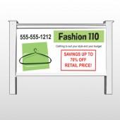 "Fashion Hanger 526 48""H x 96""W Site Sign"