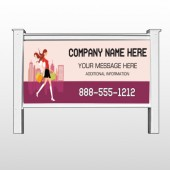"Fashion Shopping 179 48""H x 96""W Site Sign"