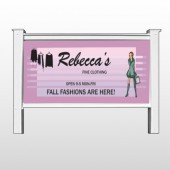 "Fine Clothing 531 48""H x 96""W Site Sign"