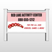 "Hobbies 522 48""H x 96""W Site Sign"