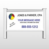 "Pie Taxes 172 48""H x 96""W Site Sign"