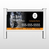 "Rent Dreams 109 48""H x 96""W Site Sign"