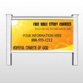 "Sun Rays 165 48""H x 96""W Site Sign"