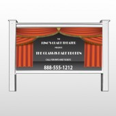 """Theatre Curtains 521 48""""H x 96""""W Site Sign"""