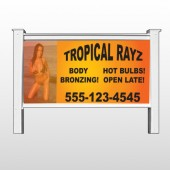 "Tropical Rayz Tan 490 48""H x 96""W Site Sign"