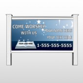 "Worship With Us 02 48"" x 96"" Site Signs"