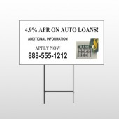 Auto Loan 173 Wire Frame Sign
