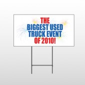 Fireworks 118 Wire Frame Sign
