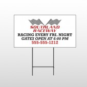 Racetrack 31 Wire Frame Sign