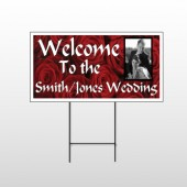 Rose Couple 04 Wire Frame Sign