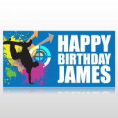 Skater Happy Birthday Banner