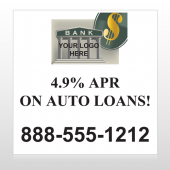 Auto Loan 173 Custom Sign