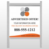 "Advertised Offer 150 48""H x 48""W Site Sign"