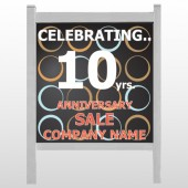 "Anniversary Sale 14 48"" H x 48""W Sign Site"