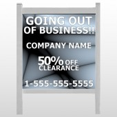 "Gray Going Out of Business Sale 12 48""H  x 48""W Site Sign"