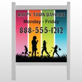 "Happy Town 181 48""H x 48""W Site Sign"