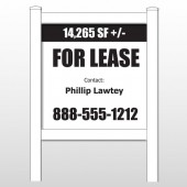 "Lease 458 48""H x 48""W Site Sign"