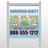 "Suburbs 248 48""H x 48""W Site Sign"