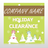 Holiday Clearance 13 Custom Sign