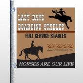 Boarding Stables 304 Pole Banner