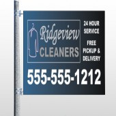 Dry Cleaners 24 Pocket Banner
