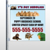 Pet Supplies 305 Pole Banner